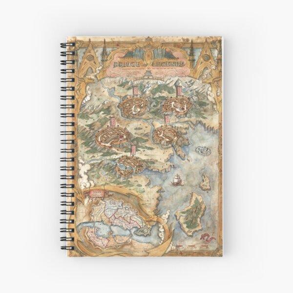 Bridge of Legends Map Spiral Notebook