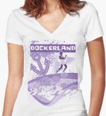 Dockerland Women's Fitted V-Neck T-Shirt