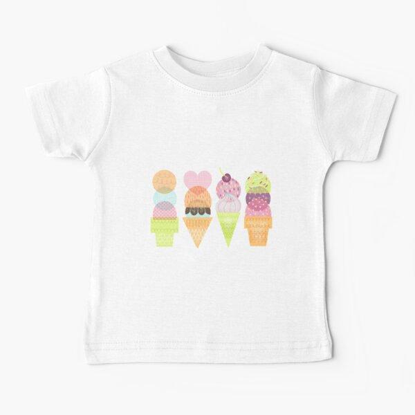 Ice Cream Stamps Baby T-Shirt