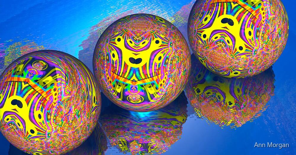 Fractal Balls Taking A Dip by Ann Morgan