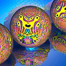 Fractal Balls Taking A Dip by Ann Morgan
