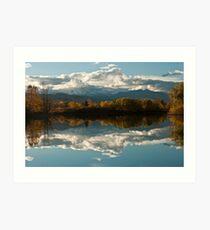 Reflections of Longs Peak, Colorado Art Print