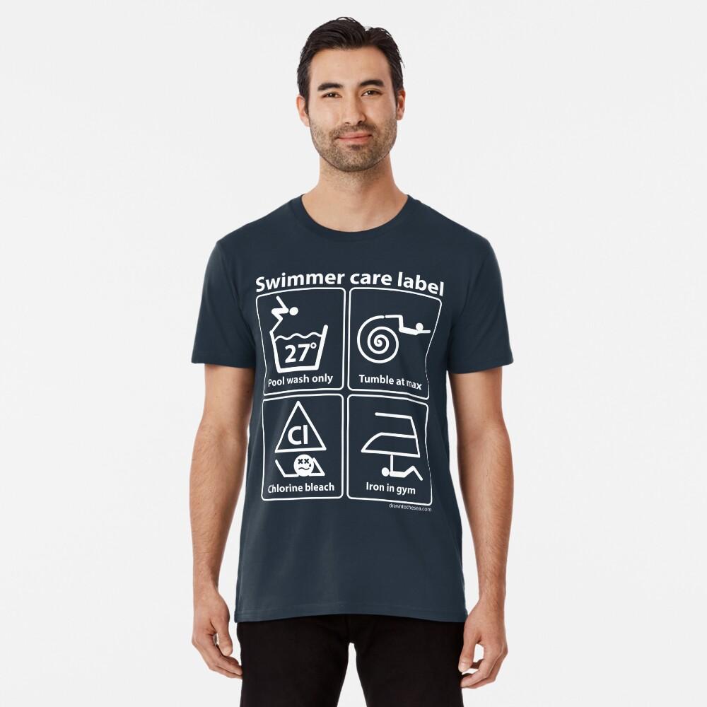 Swimmer care label white Premium T-Shirt