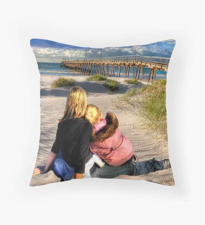 Down By The Jetty Throw Pillow