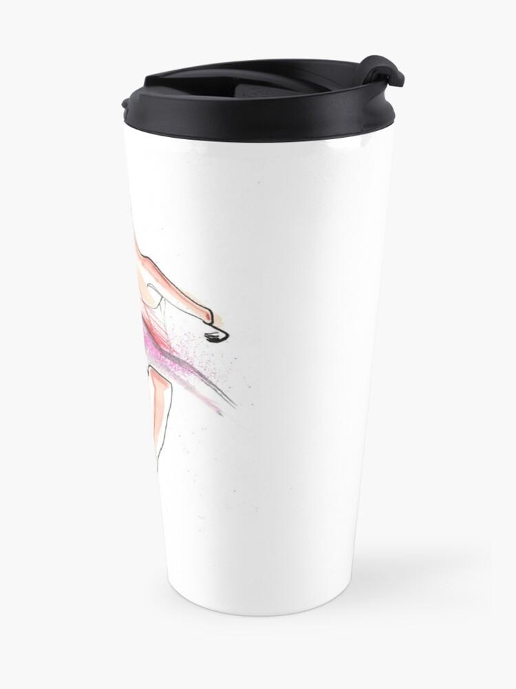 Alternate view of Ballerina Dance Drawing Travel Mug