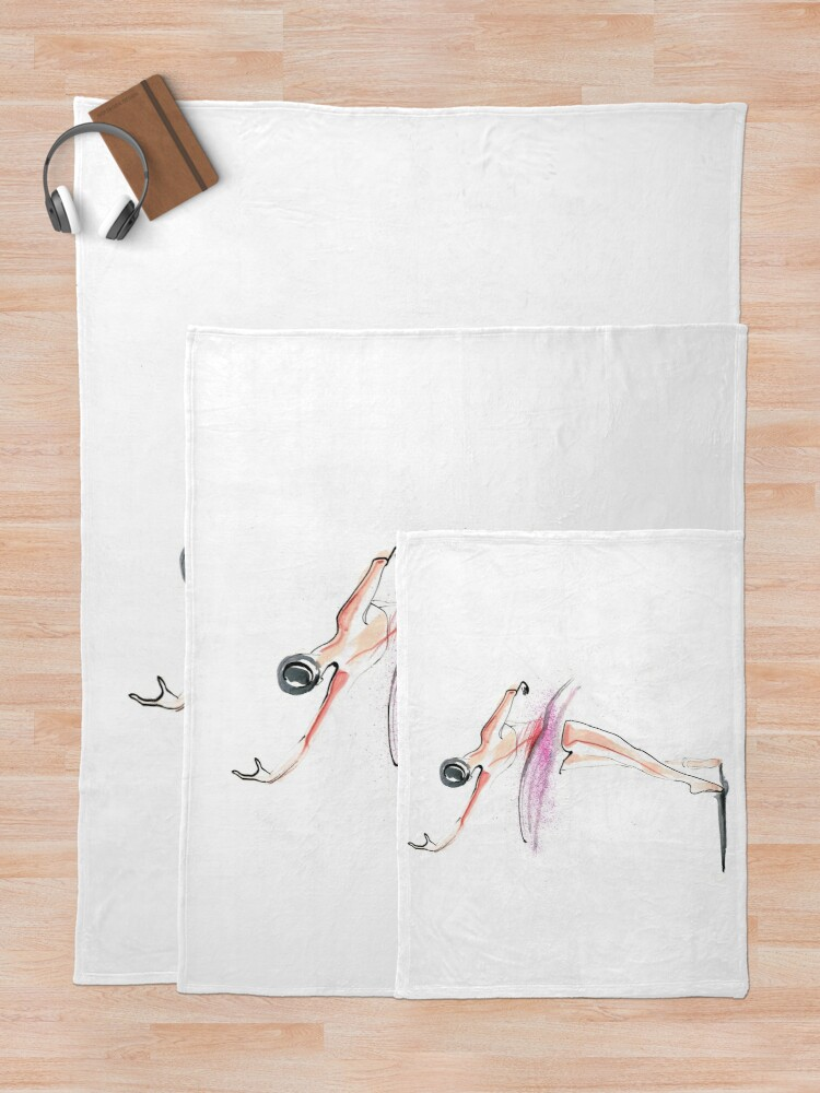 Alternate view of Ballerina Dance Drawing Throw Blanket