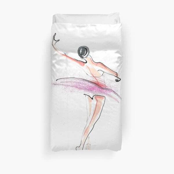 Ballerina Dance Drawing Duvet Cover