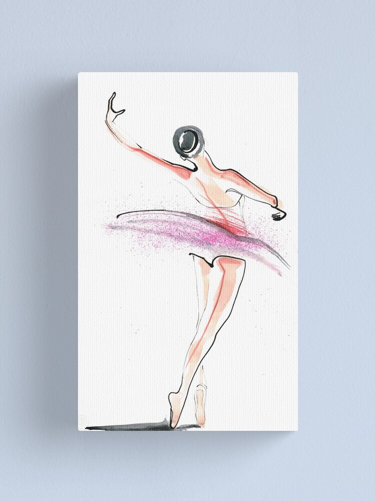 Alternate view of Ballerina Dance Drawing Canvas Print