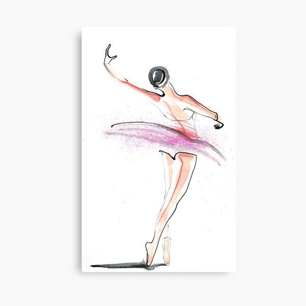 Ballerina Dance Drawing Canvas Print