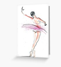 Ballerina Dance Drawing Greeting Card