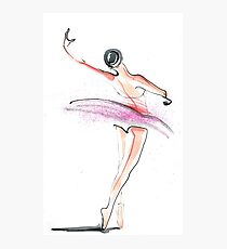 Ballerina Dance Drawing Photographic Print
