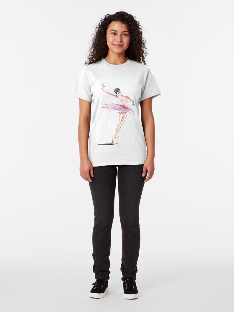 Alternate view of Ballerina Dance Drawing Classic T-Shirt
