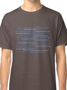 Dress Up, Me Hearties, Yo Ho! (White/Blue) Classic T-Shirt