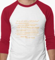Dress Up, Me Hearties, Yo Ho! (White/Orange) Men's Baseball ¾ T-Shirt