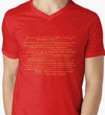 Dress Up, Me Hearties, Yo Ho! (White/Orange) Men's V-Neck T-Shirt