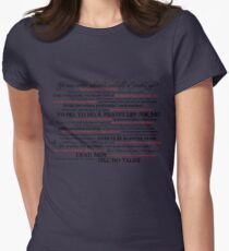 Dress Up, Me Hearties, Yo Ho! (Black/Red) Women's Fitted T-Shirt
