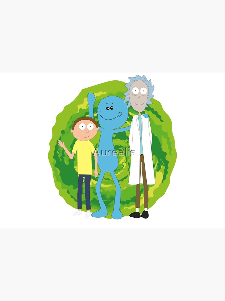 Rick and Morty and Mr. Meeseeks by Aurealis