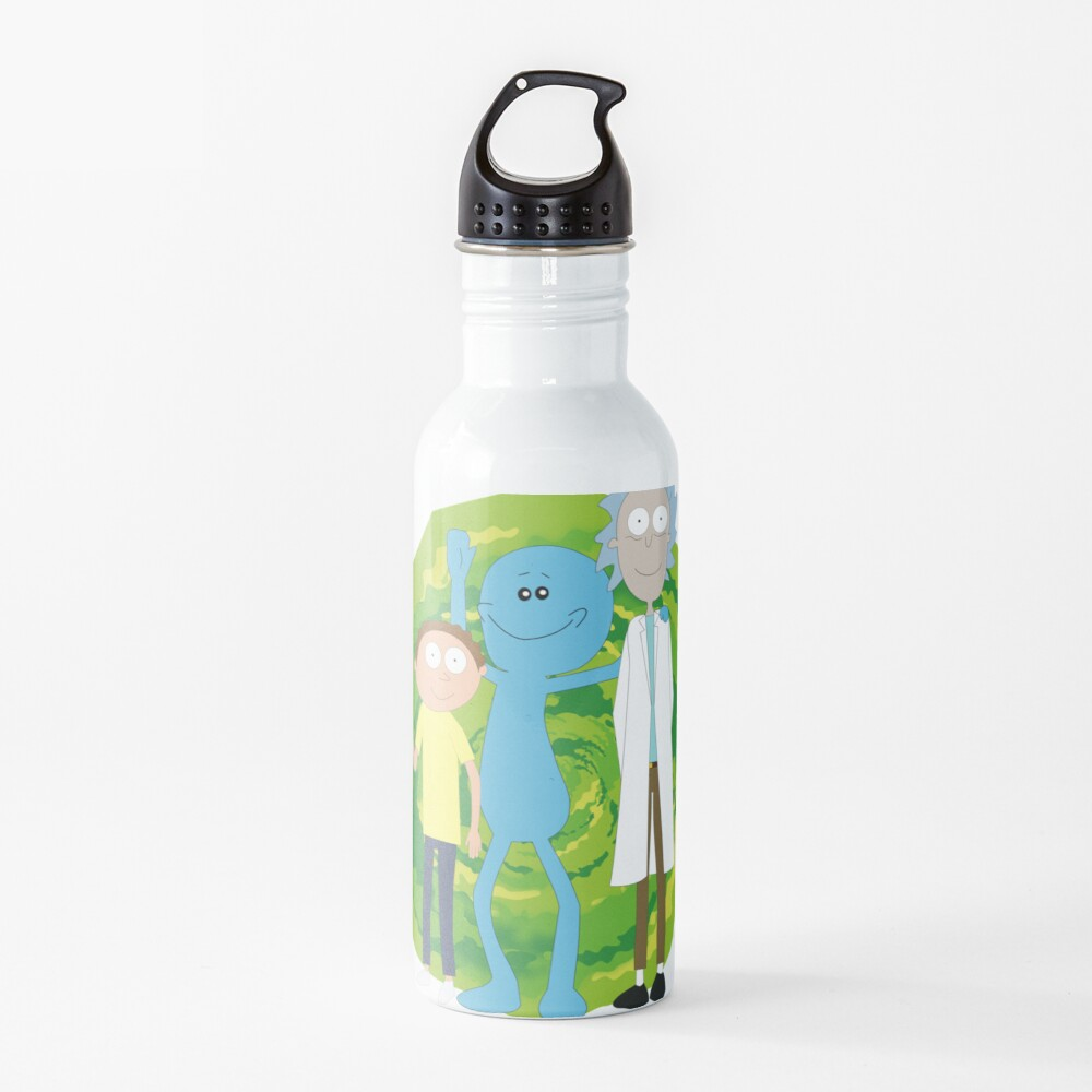 Rick and Morty and Mr. Meeseeks Water Bottle