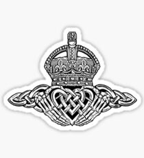 Skeleton Claddagh Black and White Sticker