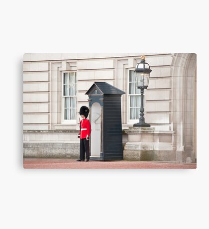 The Lone Sentry: Buckingham Palace, London, UK. Metal Print