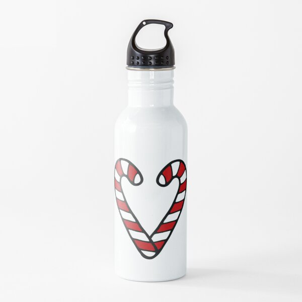 Candy Cane Pattern Water Bottle