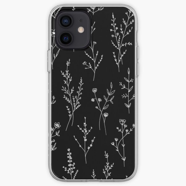 New Wildflowers Black Funda blanda para iPhone