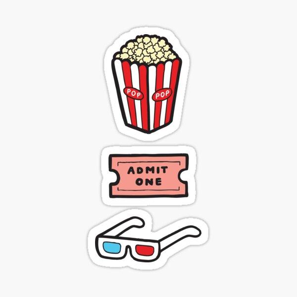 Movie Pattern in Pastel Pink Sticker