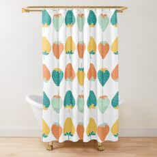 Whimsical strawberry pattern. Shower Curtain