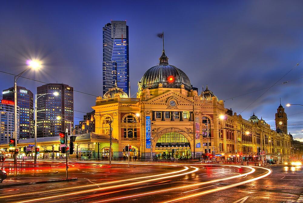 Flinders Street Station by Alex Stojan