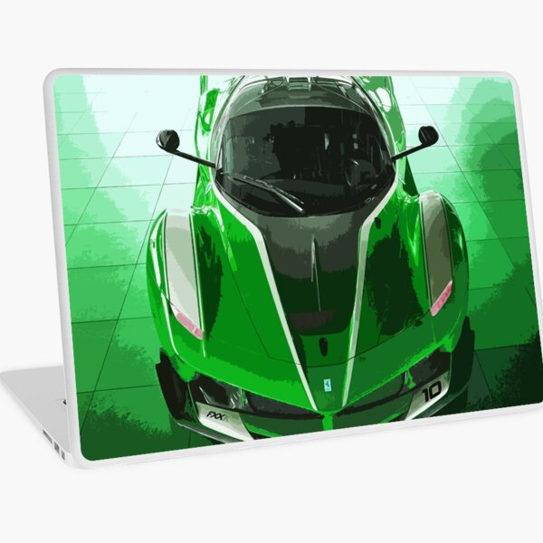 Green Ferrari FXX K Laptop Skin