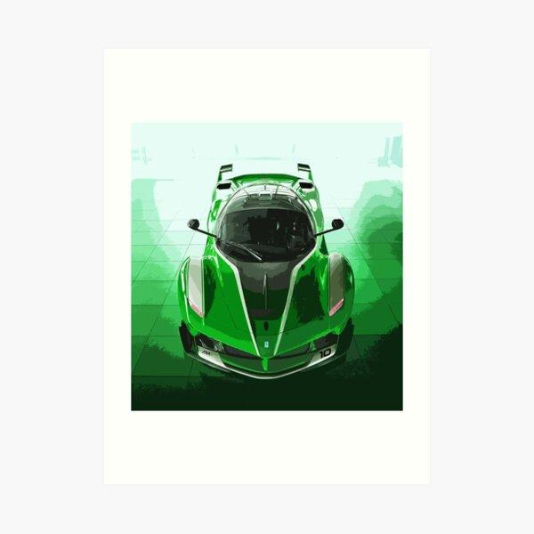 Green Ferrari FXX K Art Print