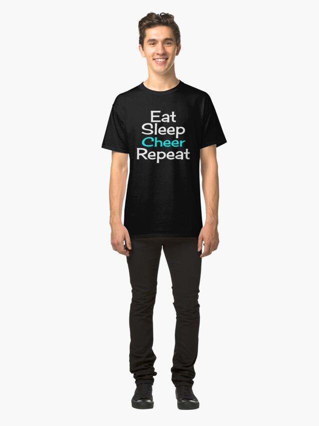 Alternate view of Eat, Sleep, Cheer, Repeat Classic T-Shirt