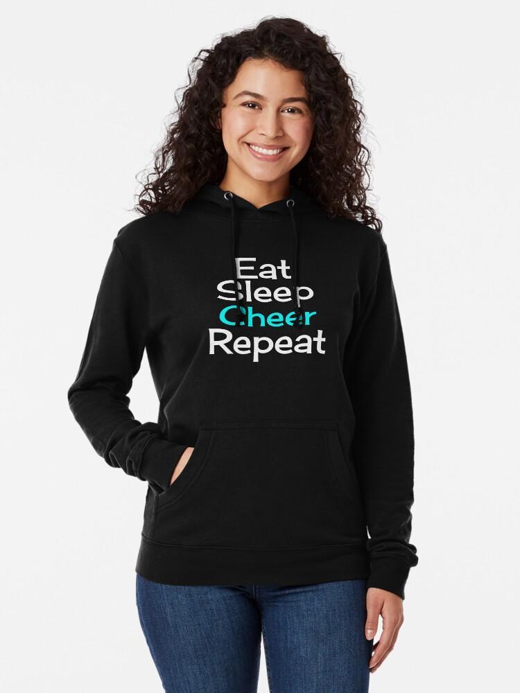 Alternate view of Eat, Sleep, Cheer, Repeat Lightweight Hoodie