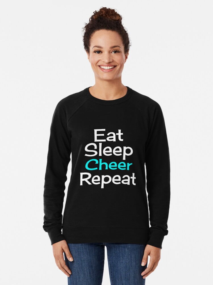Alternate view of Eat, Sleep, Cheer, Repeat Lightweight Sweatshirt