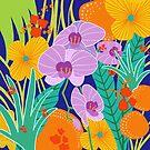 ORCHID FANTASY, tropical Illustration by Marlagill