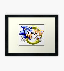 Sonic the Hedgehog - SEGA Genesis Sprite Framed Print