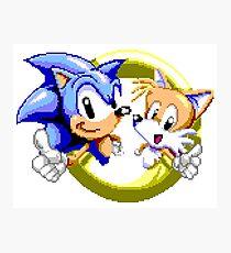 Sonic the Hedgehog - SEGA Genesis Sprite Photographic Print