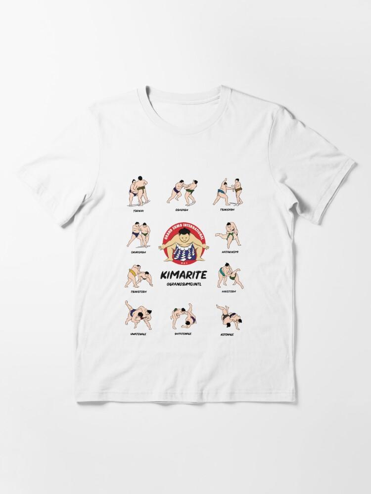Alternate view of Kimarite Winning Sumo Techniques Essential T-Shirt