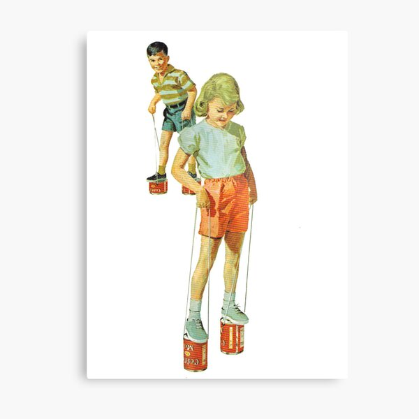 The Simple Life : Tin Can Stilts Metal Print