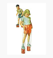 The Simple Life : Tin Can Stilts Photographic Print