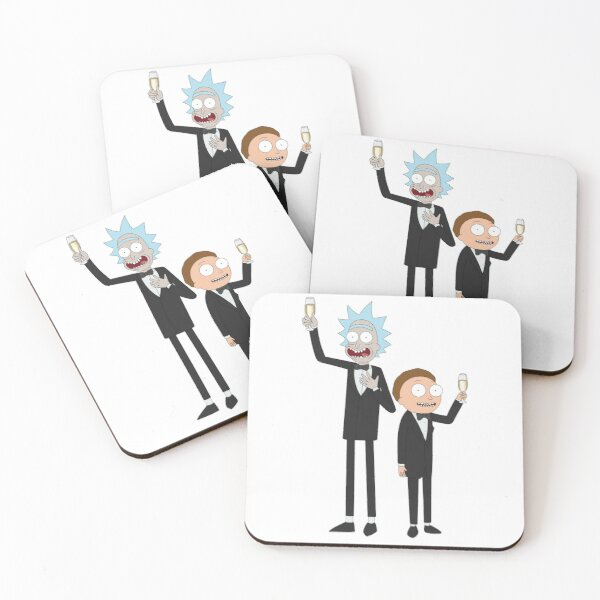 Formal Rick and Morty™ Coasters (Set of 4)