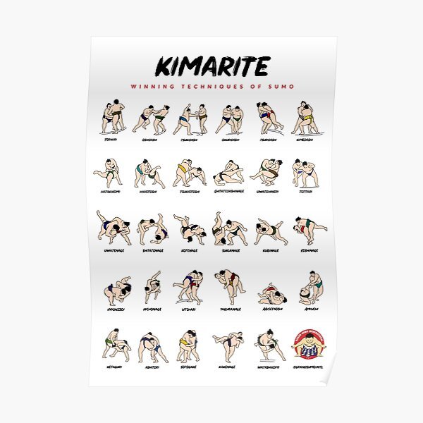 Kimarite — Winning Techniques of Sumo Poster