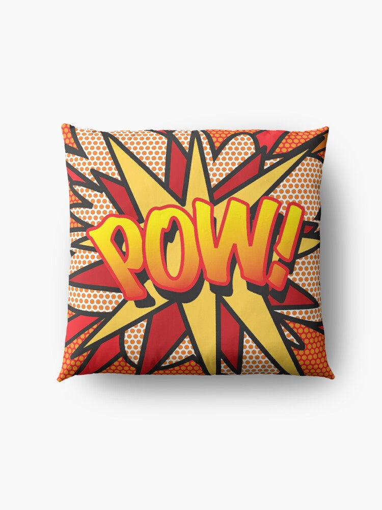 Alternate view of POW Comic Book Pop Art Trendy Fun Floor Pillow