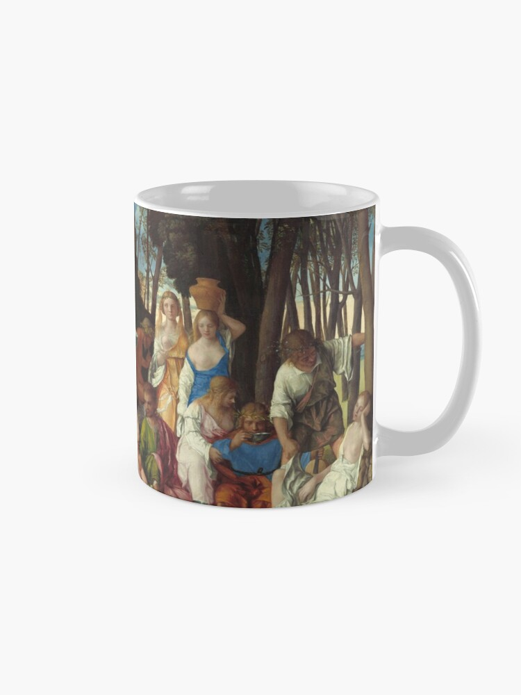Alternate view of The Feast of the Gods Painting by Giovanni Bellini and Titian Mug