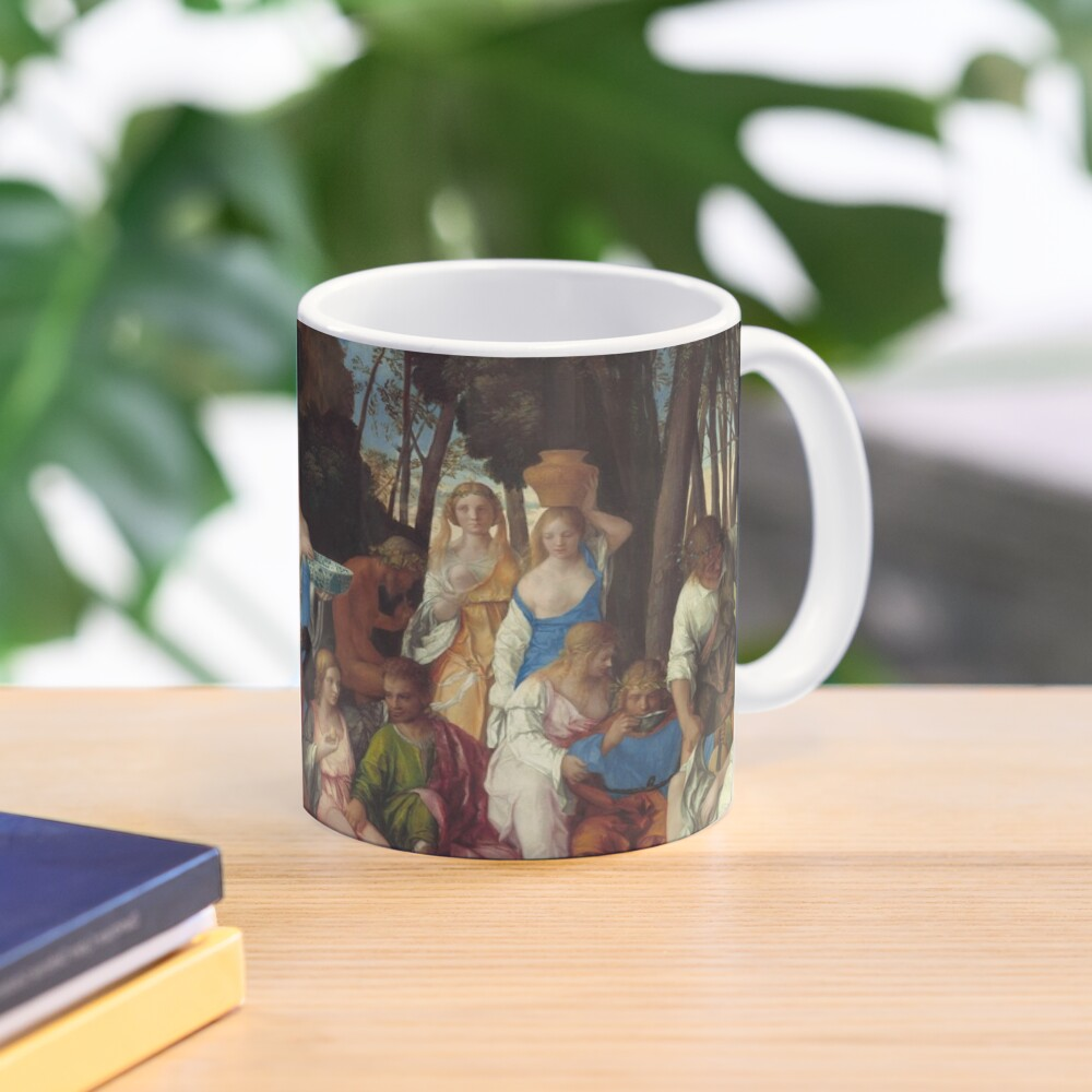 The Feast of the Gods Painting by Giovanni Bellini and Titian Mug