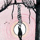 The Hanged Man - tarot series by Minxi by Kari Sutyla
