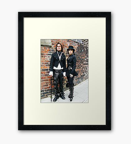 The Goth Weekend at Whitby, Oct 2010. 10 Framed Print