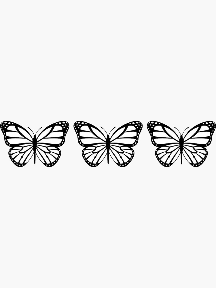 3 Black and White Butterflies by noacole