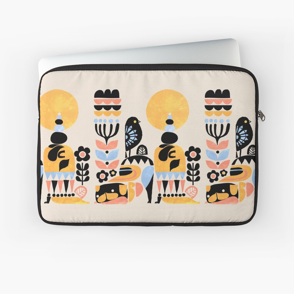Scandinavian Pug Yoga Laptop Sleeve