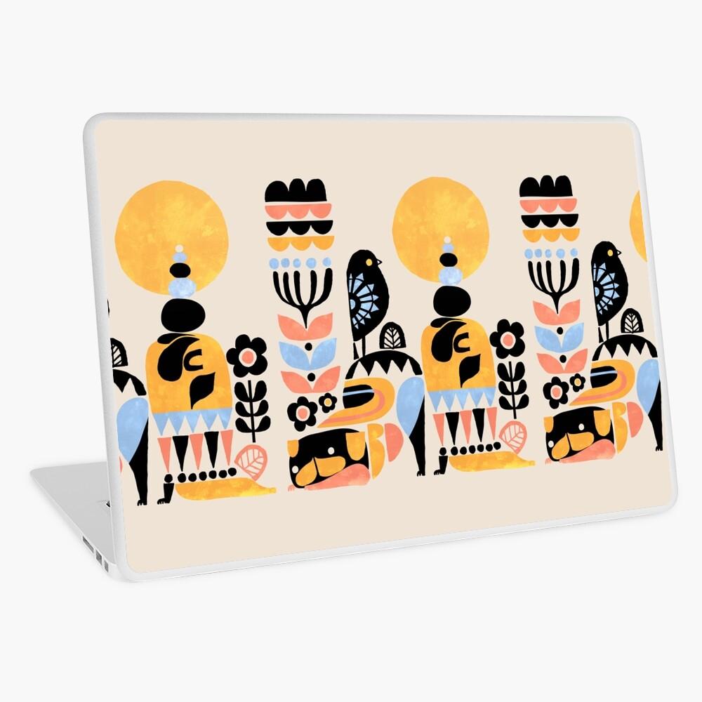 Scandinavian Pug Yoga Laptop Skin